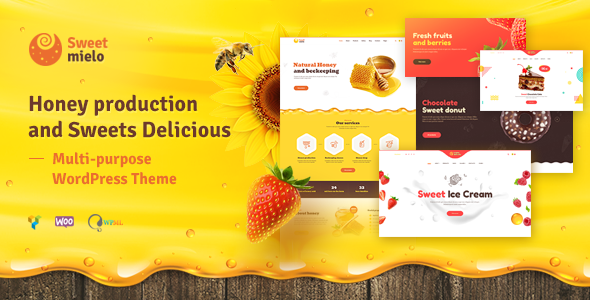 SweetMielo 1.6.6 - Honey Production and Sweets Delicious WordPress Theme