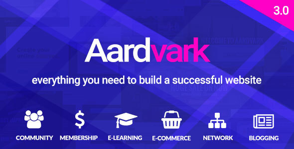 Aardvark 3.0 - BuddyPress, Membership & Community Theme