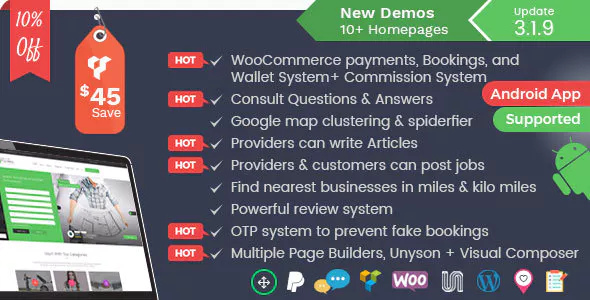 Listingo 3.1.9 - Service Providers, Business Finder and Directory Listing