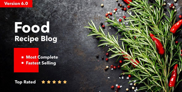 Neptune 6.3.2 - Theme for Food Recipe Bloggers & Chefs