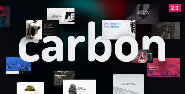 Carbon 2.5.0 - Clean Minimal Multipurpose WordPress Theme