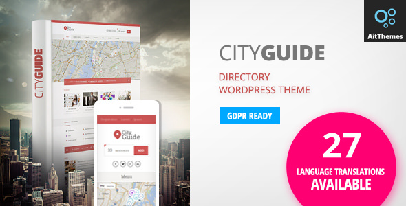 City Guide 3.49 - Listing Directory WordPress Theme