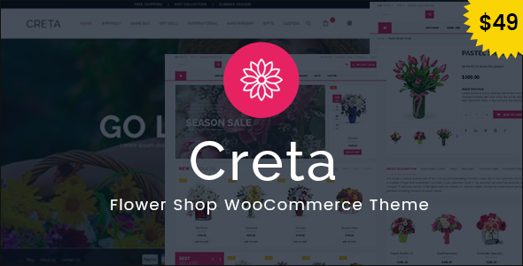 Creta 3.6 - Flower Shop WooCommerce WordPress Theme