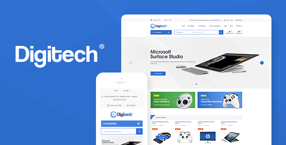 Digitech 1.0.6 - Technology Theme for WooCommerce