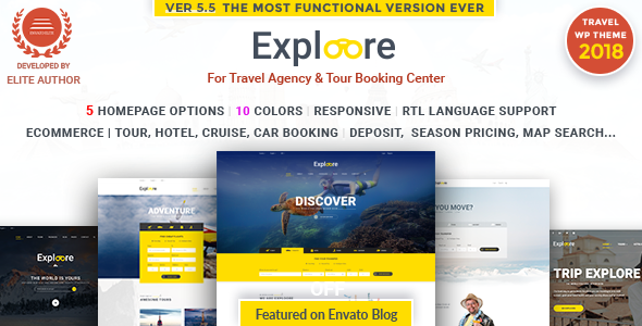 Exploore 5.6 - Travel Exploration Booking WordPress Theme