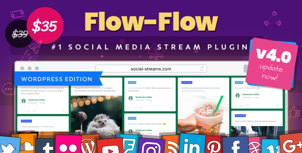 Flow-Flow 4.1.8 - WordPress Social Stream Plugin