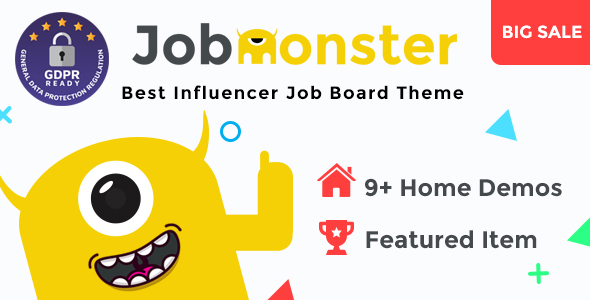 Jobmonster 4.5.2.3 - Job Board WordPress Theme