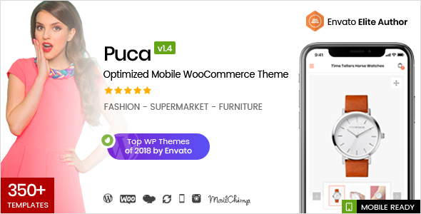 Puca 1.4.3 - Optimized Mobile WooCommerce Theme