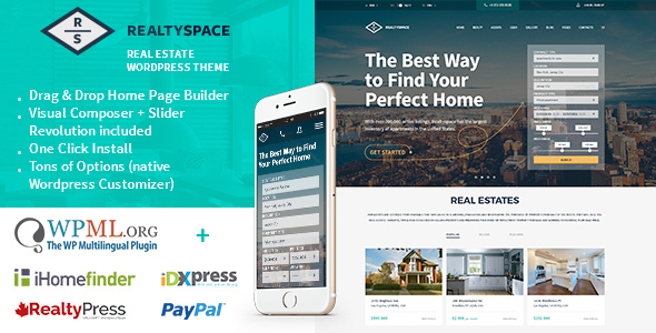 Realtyspace 1.4.16 - Real Estate WordPress Theme