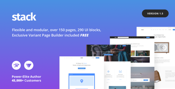 Stack 10.5.14 - Multi-Purpose Theme with Variant Page Builder