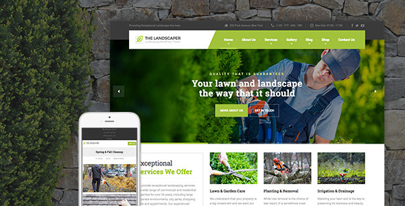 The Landscaper 1.7.1 - Lawn & Landscaping WP Theme