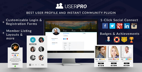 UserPro 4.9.31 - User Profiles with Social Login