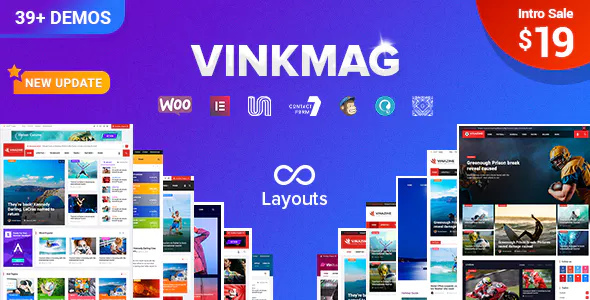 Vinkmag 1.5.2 - Creative Newspaper News Magazine WordPress Theme