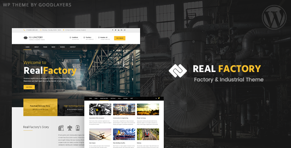 Real Factory 1.3.2 - Construction & Industrial Theme
