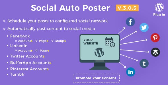 Social Auto Poster 3.0.5 - WordPress Plugin