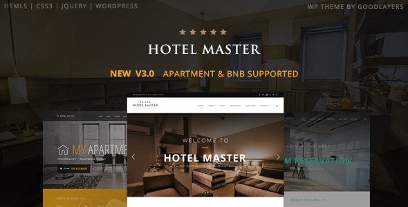Hotel Master 3.12 - Hotel WordPress Theme For Hotel Booking