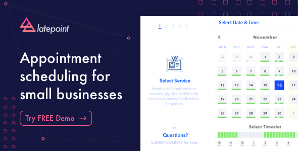 LatePoint 1.8.1 - Appointment Booking & Reservation plugin for WordPress