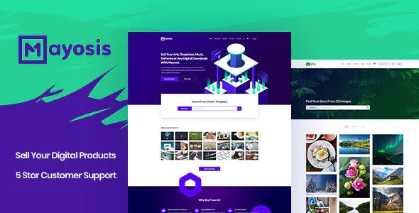 Mayosis 2.5.4 - Digital Marketplace WordPress Theme
