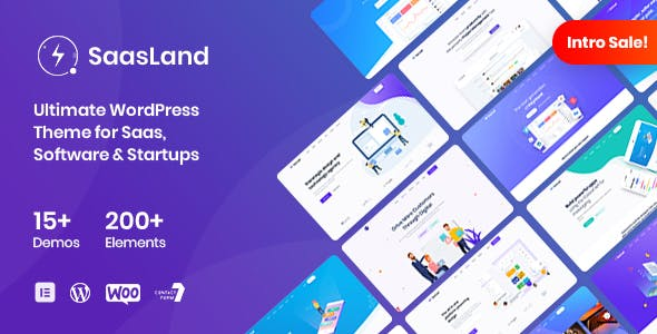 SaasLand 1.7.1 - MultiPurpose WordPress Theme for Saas & Startup