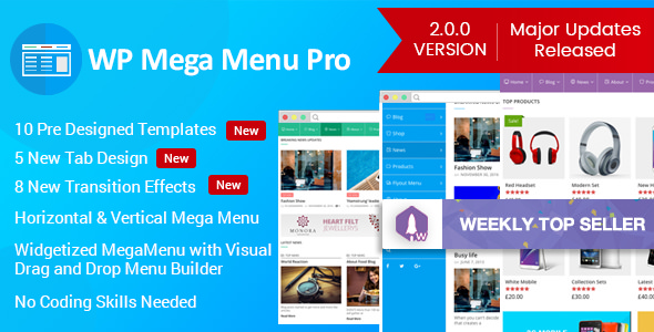 WP Mega Menu Pro 2.0.8 - Responsive Mega Menu Plugin for WordPress