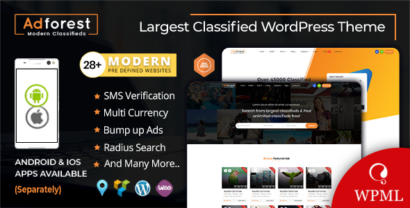 AdForest 4.1.1 (Nulled) - Classified Ads WordPress Theme
