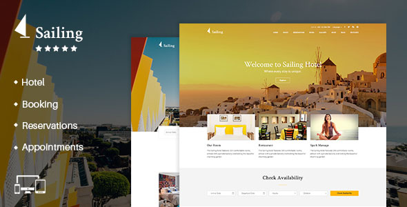 Sailing 4.0 (Nulled) - Hotel WordPress Theme