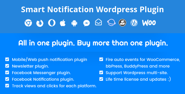Smart Notification WordPress Plugin 8.4.6 (Nulled)