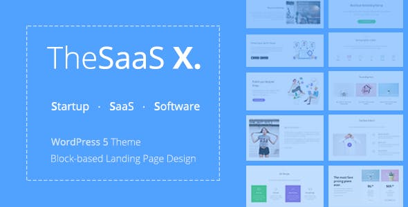 TheSaaS X 1.1.0 - Responsive SaaS, Startup & Business WordPress Theme
