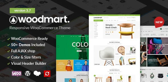WoodMart 3.8.1 (Nulled) - Responsive WooCommerce WordPress Theme