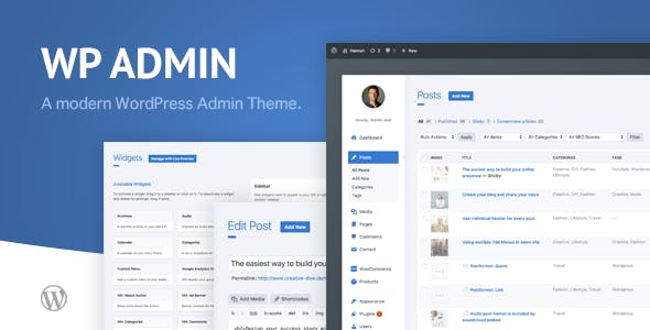 WP Admin Theme CD 1.9 - A clean and modern WordPress Admin Theme