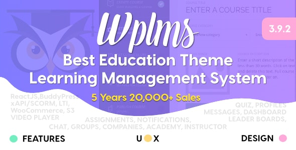 WPLMS 3.9.3.3 - Learning Management System for WordPress Theme