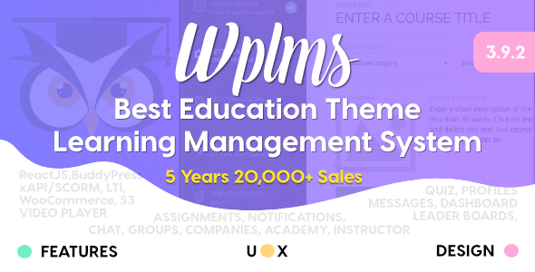 WPLMS 3.9.3 - Learning Management System for WordPress Theme