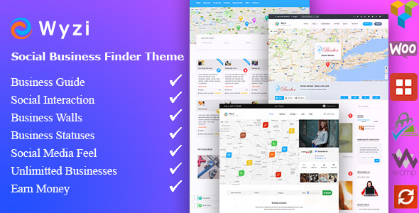 Wyzi (Nulled) 2.3.0 - Social Business Finder WordPress Theme