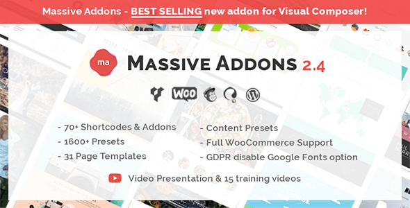 Massive Addons for WPBakery Page Builder 2.4.8