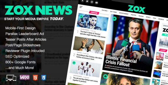 Zox News 3.3.0 (Nulled) - Professional WordPress News Magazine Theme