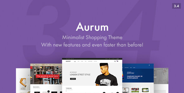 Aurum 3.4.10 - Minimalist Shopping Theme