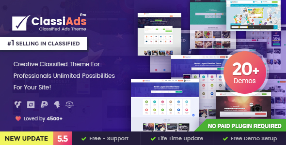 Classiads 5.8 - Classified Ads WordPress Theme