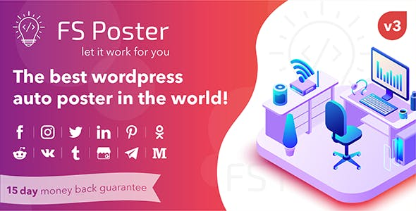 FS Poster 3.2.3 (Nulled) - WordPress Auto Poster & Scheduler
