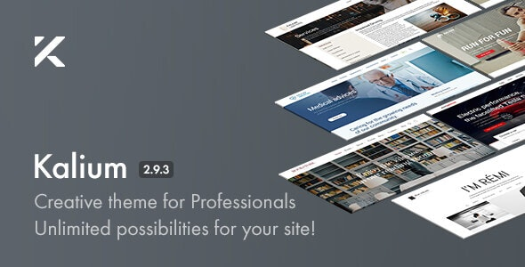 Kalium 2.9.3.1 (Nulled) - Creative Theme for Professionals