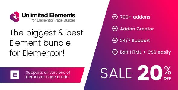 Unlimited Elements for Elementor Page Builder 1.4.12 (Nulled)