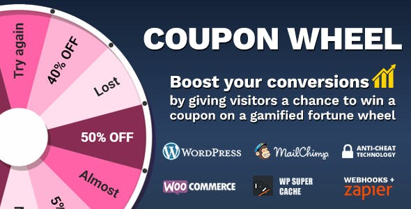 Coupon Wheel For WooCommerce and WordPress 2.8.0
