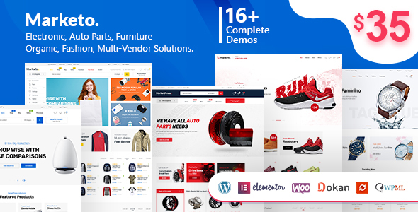 Marketo 1.9.7 - ECommerce & Multivendor WordPress Theme