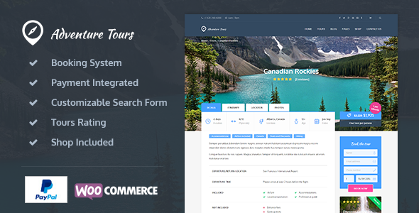 Adventure Tours 3.8.0 - WordPress Tour/Travel Theme