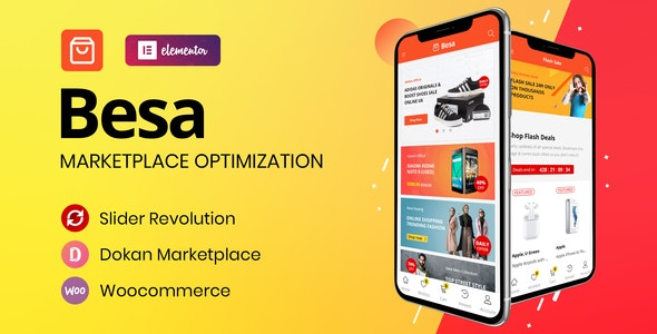 Besa 1.2 - Elementor Marketplace WooCommerce Theme