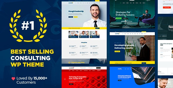 Consulting 5.0.2 Nulled - Business, Finance WordPress Theme