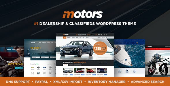 Motors 4.9.3 Nulled + Mobile App - Classifieds WordPress Theme