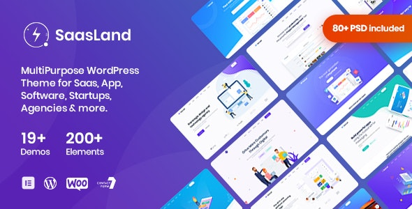 SaasLand 3.2.8 Nulled - MultiPurpose WordPress Theme