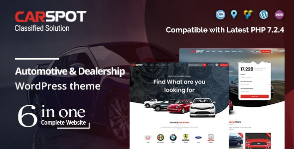 CarSpot 2.2.9 Nulled - Automotive Car Dealer WordPress Classified Theme