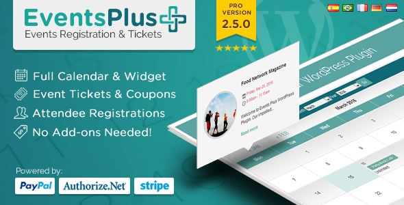 Events Calendar Registration & Booking 2.5.1 - WordPress Events Plugin
