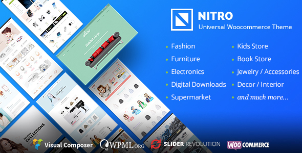 Nitro 1.7.9 Nulled - Universal WooCommerce Theme from Ecommerce
